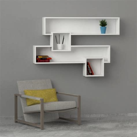 mensole lunghe caledon libreria moderna a muro mensole in legno 135 x 92 cm