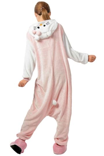 Set Rabbit Legging Import womens hooded onesies rabbit pajamas animal costume pink
