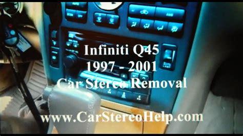 infiniti  bose car stereo removal   repalce repair youtube