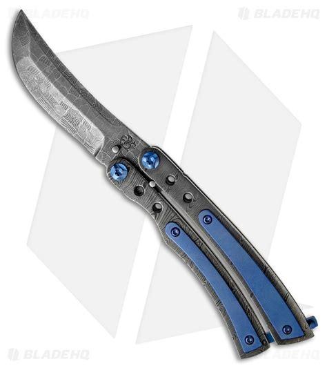 custom balisongs famin custom lambo 16 butterfly knife damascus 3 quot damascus blade hq