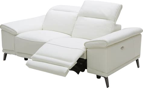white leather reclining loveseat gaia white leather power reclining loveseat 18253 l j m