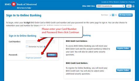 reset online banking password bmo bmo bank online banking login cc bank