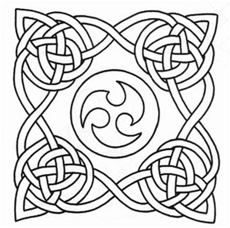 Knot Pattern - free celtic alphabet coloring pages