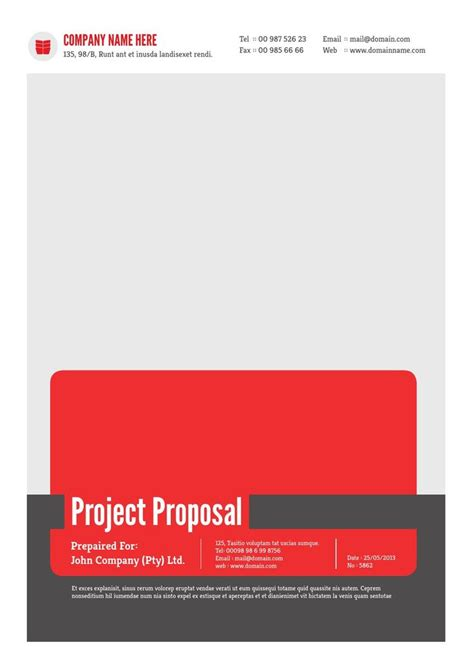 project proposal template v1 proposals words and templates