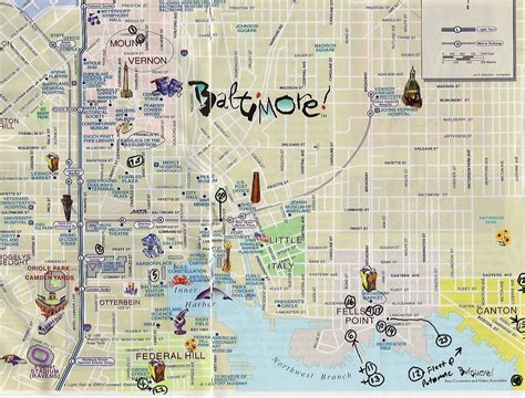 printable map of baltimore visiting baltimore this month skyscrapercity