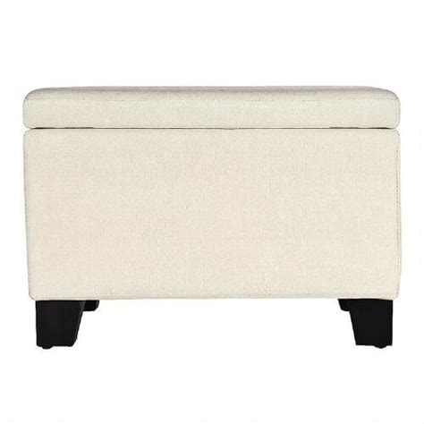 linen ottoman storage cream linen look storage ottoman christmas tree shops