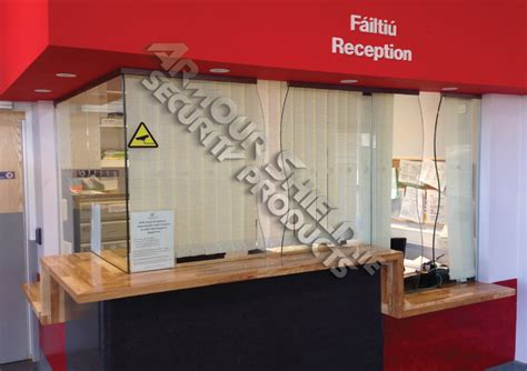 reception desk security screens vertical ope security screen armour shield