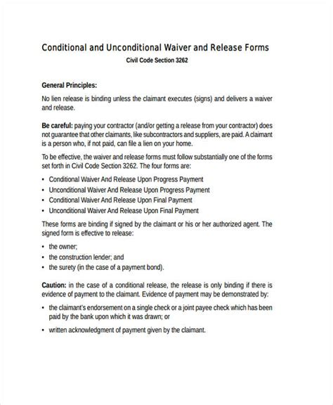 20 Free Print Release Form Commercial Lien Template