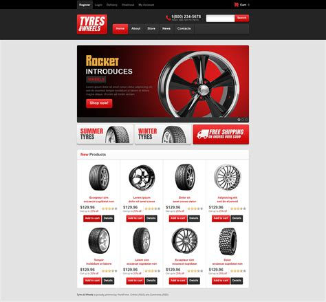 templates for handicrafts website tyres wheels store jigoshop theme 45422