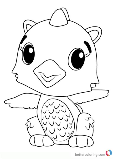 coloring page hatchimals polar draggle from hatchimals coloring pages free