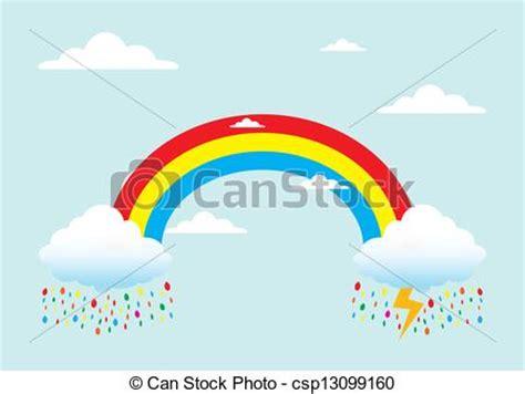 rainbow house beautiful nature phenomenon vector logo icon clip art vector of rainbow with rain beautiful natural