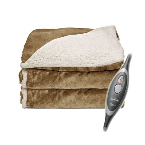 electric couch blanket sunbeam sherpa royalmink electric heated throw blanket