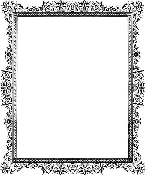 decorative clip border black and white