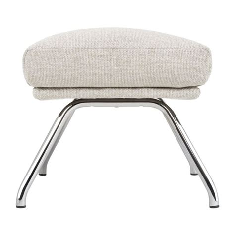 footstool metal legs dena footstool in lecce fabric nature with chromed