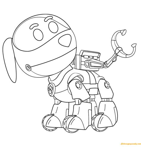 paw patrol winter coloring pages paw patrol robo dog coloring page free coloring pages online