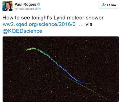 lyrid meteor shower lyrid meteor shower appears in skies tonight market