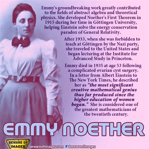 emmy noether quotes mathematician and scientist happy birthday amalie emmy
