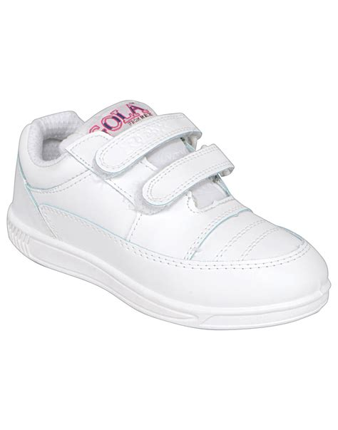 smart gola velcro white school shoes rex shoes