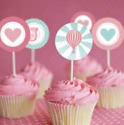cupcake tops air balloon cupcake toppers printables