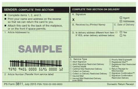 usps green card template forms