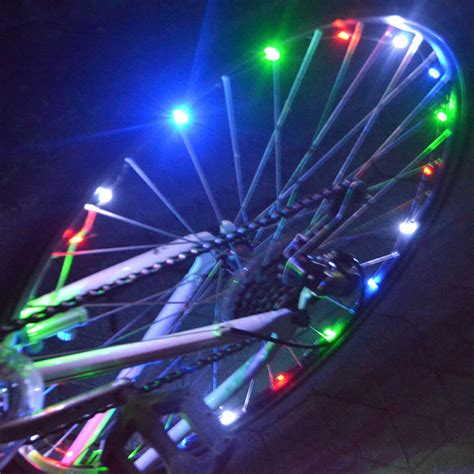 Led Light Strips For Bikes Bicycle Led Lights Bike Safety For Cycling Spoke Wheel Aa L Ebay