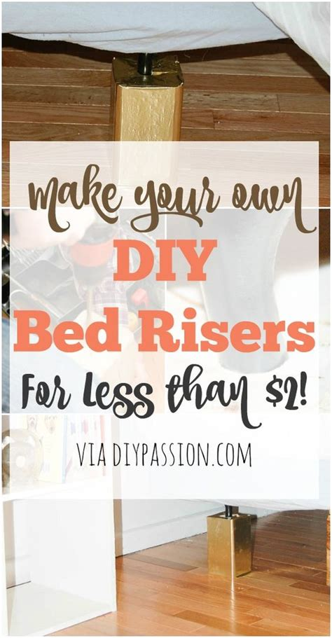 diy bed risers bed risers diy bed and make beds on pinterest