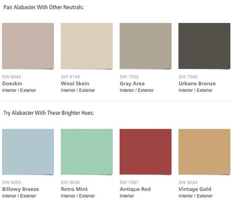 what color is alabaster paint combinations for sherwin williams 2016 color of the