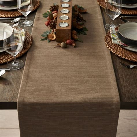 crate and barrel table runner grasscloth 90 quot brindle brown table runner crate and barrel