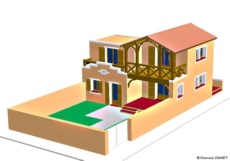 architecture maison 3d dessin maison 3d maison moderne