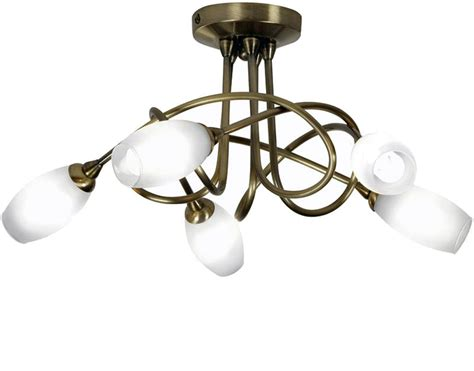 5 Light Ceiling Light by 4 And 5 Light Semi Flush Ceiling Lights From Easy Lighting