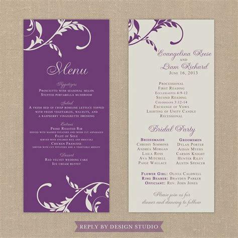 design menu program 17 best images about wedding programs on pinterest