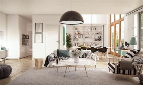 swedish decor 3 natural interior concepts with floor to ceiling windows