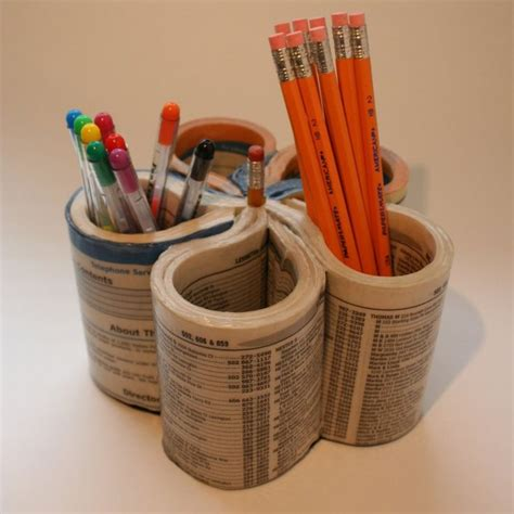 pencil holder craft ideas for phone book pencil holder recycled crafts