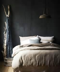 Linen Platform Bed - 22 charcoal grey bedrooms messagenote