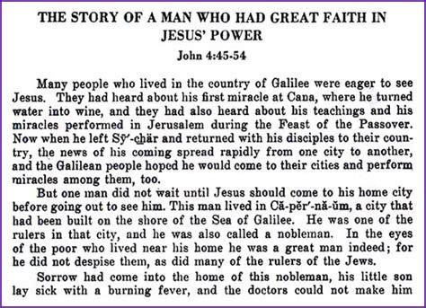 nobleman seeks jesus healing for story korner