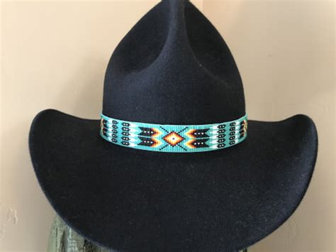 beaded hat band beaded hat bands american style by ajwhatbands