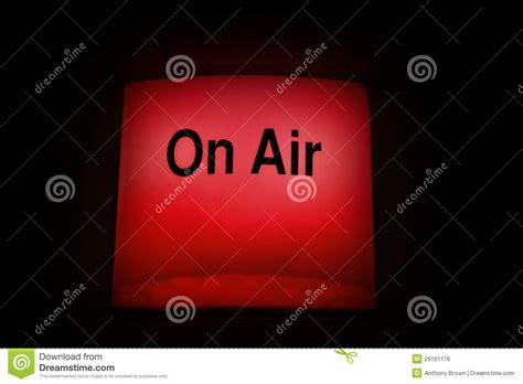 radio on air light broadcast on air light royalty free stock image image