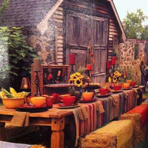 fall backyard party ideas fall outdoor party themes themes themes pinterest