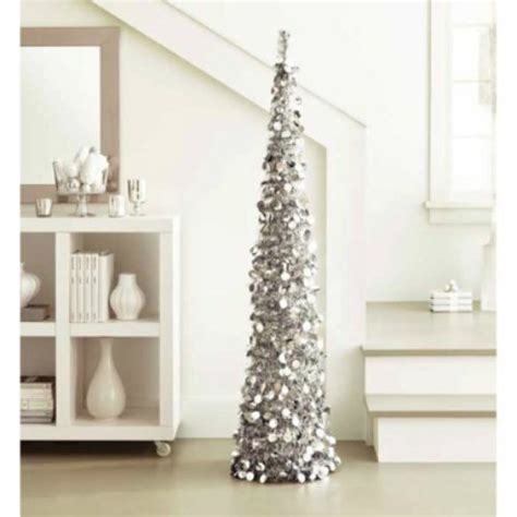 silver popup tree decorseasonal shop for seasonal decor