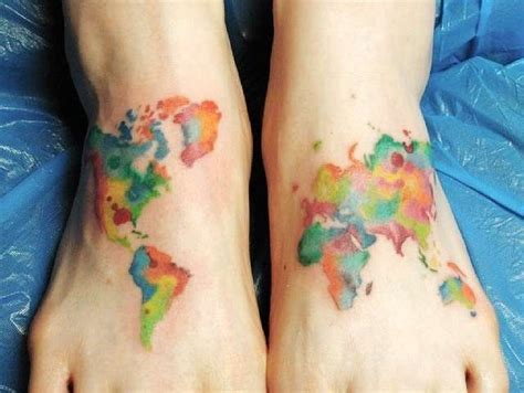 watercolor tattoo foot 128 best images about tats on scottish tattoos