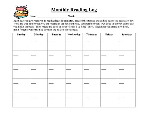 printable calendar reading logs search results for weekly reading log calendar