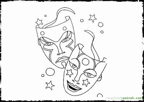 printable jester mask mardi gras jester page coloring pages