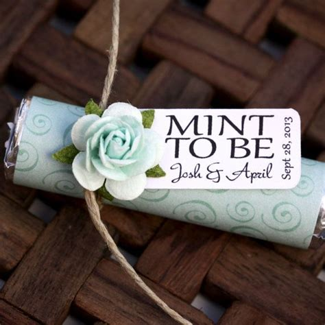 wedding favors mint to be bridal shower wedding favor quot mint to be quot favors with