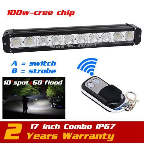 led light bar with remote aliexpress com buy 17 quot 100w led light bar 12v 24v