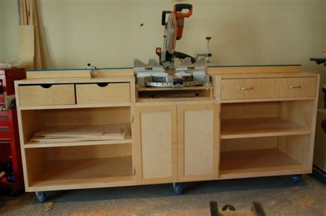 Miter Saw Cabinet by Miter Saw Cabinets Woodworking Projects Plans