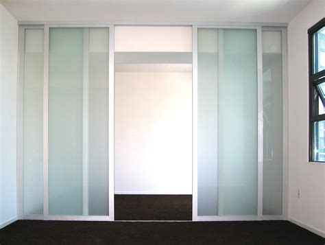 glass divider design frosted glass room divider double