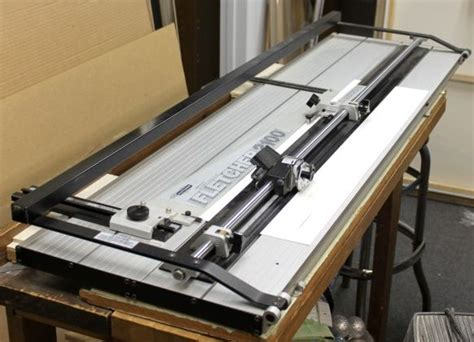 Picture Matting Cutter by Fletcher 2100 Mat Cutter 60 Inch Used Framing Equipment