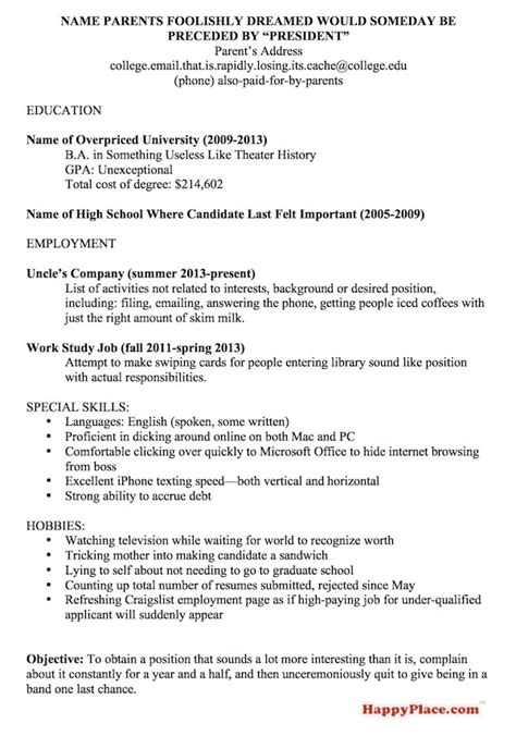 recent graduate resume really bad the employees strike back