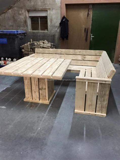 couch from wooden pallets pallet corner couch with table pallet furniture projects
