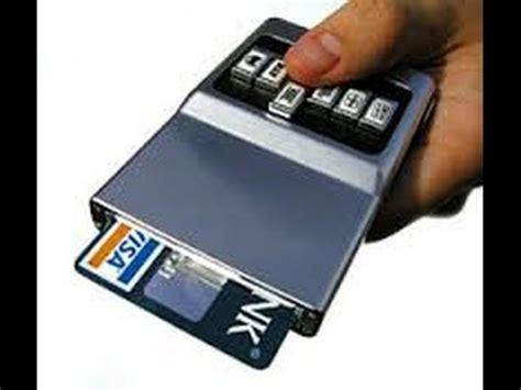 acm wallet review  gadget push button survival storage future credit card cc holder youtube
